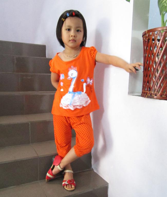 Bộ đồ thun bé gái, Bộ Đồ Thun Hình Thiên Nga, bộ đồ cho bé, đồ mặc nhà cho bé, Thời Trang Bé Gái, Siêu Thị Việt Nam