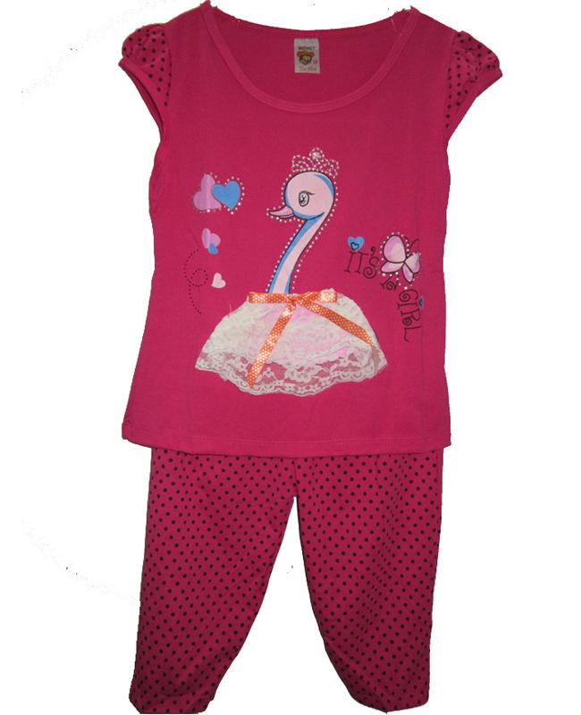 Bộ đồ thun bé gái : màu hồng dễ thương
