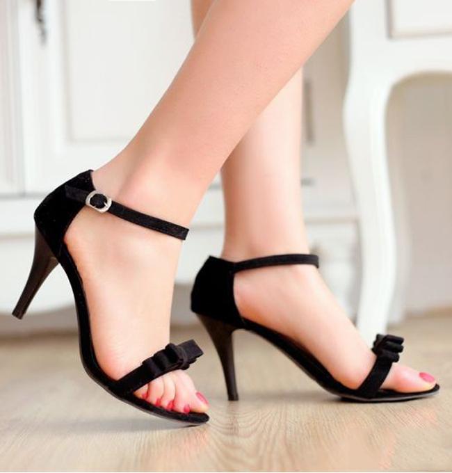 Giầy Cao Gót Đính Nơ, giay nu, giày nữ, giày cao gót, giay cao got, giày nữ đẹp, giay nu dep, giay nu cao cap, giày nữ cao cấp, giày sandal nữ, giay sandal nu, sandal nữ, Sandal nu, giay cong so nu, giày công sở nữ