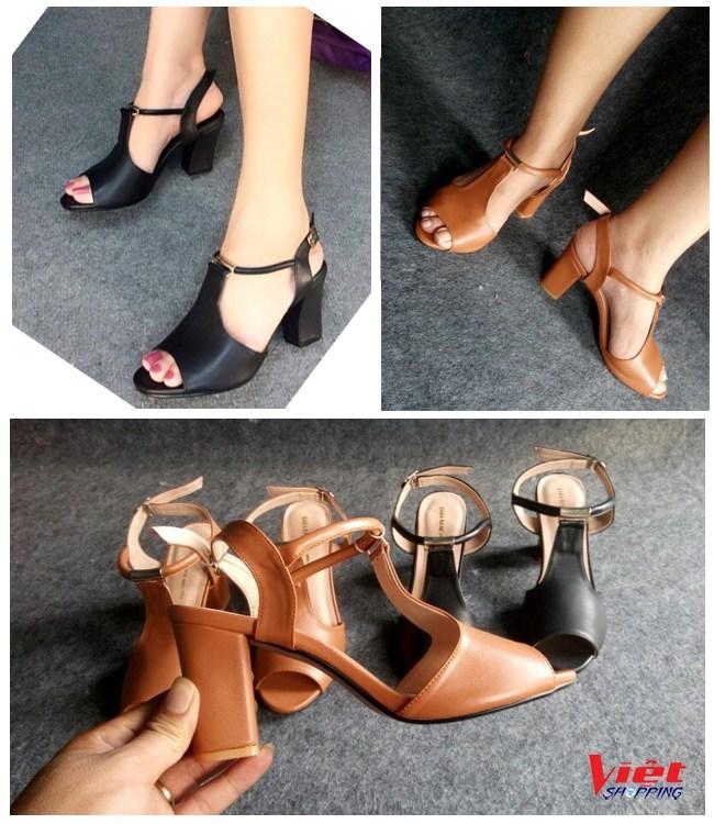 Giày cao gót hở mũi Bitas