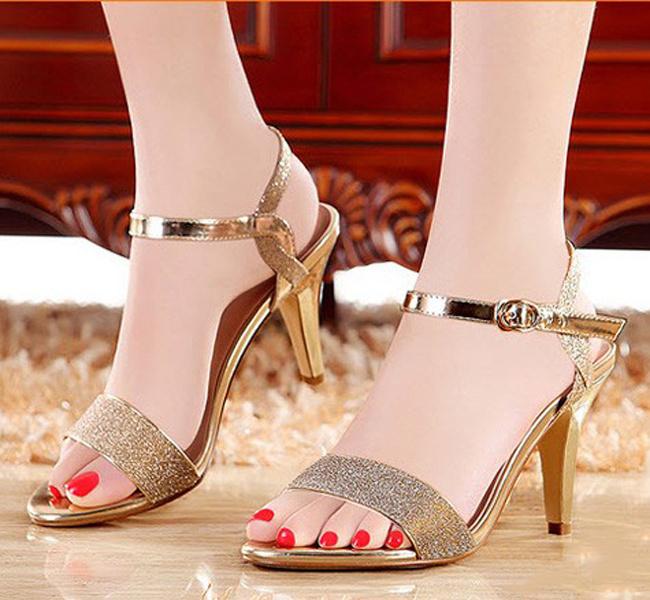 Giày Cao Gót Quai Kim Tuyến Màu Vàng -CG009, giày cao gót, giay cao got, giày công sở, giay cong so, giay nu, giày nữ, giày nữ đẹp, giay nu dep, giay nu cao cap, giày nữ cao cấp, giay viet nam, sieu thi giay, giày việt nam