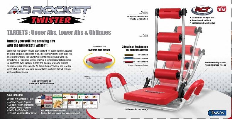 Máy tập bụng AB Rocket Twister