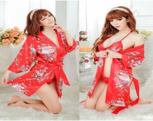 Áo Choàng Ngủ Kimono Hoa Anh Đào