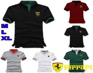 Áo Thun Nam Ferrari Cổ Trụ