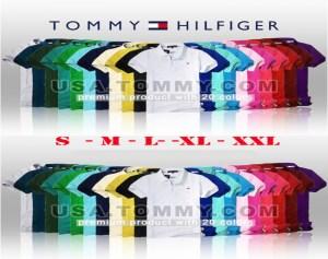 Áo thun nữ Tommy cổ bẻ VNXK
