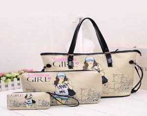 Combo 3 Túi Xách Da Fashion Girl