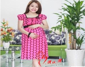 Đầm Bầu Mama Chấm Bi