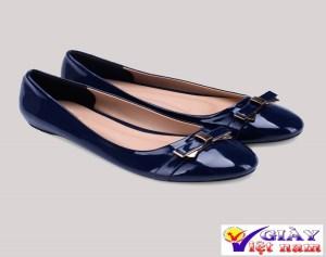 Giày búp bê nữ phối nơ thanh lịch