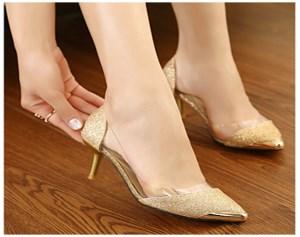 Giày Công Sở đính Kim Tuyến