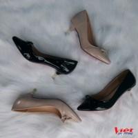 Giày Công Sở Nữ Gót Nhũ Vàng