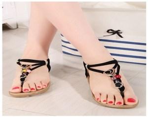 Giày Sandal Đính Hột Đa Sắc