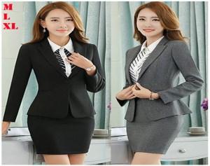 Set Chân Váy Áo Vest Công Sở Hàn Quốc